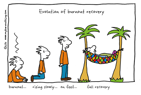 evolution-of-burnout-recovery-cartoon