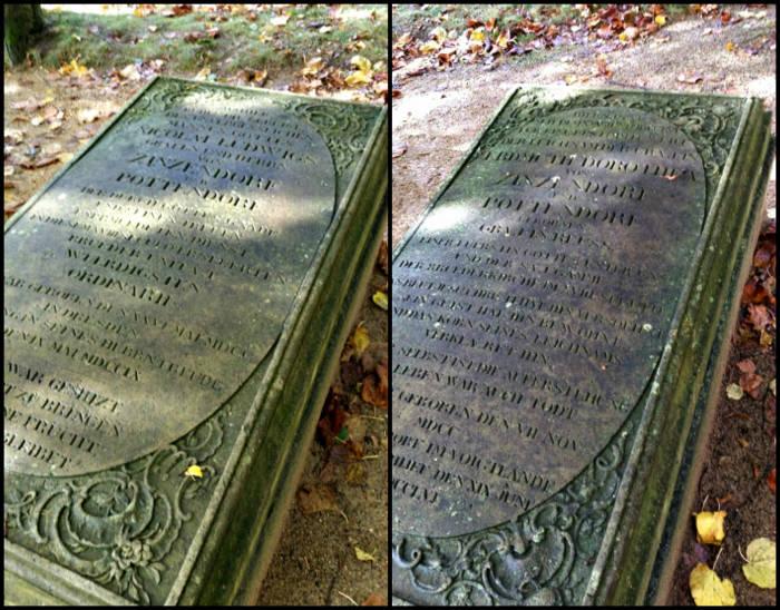Náhrobek Mikuláše Ludvíka Zinzendorfa a náhrobek jeho ženy Erdmuthe Dorothey