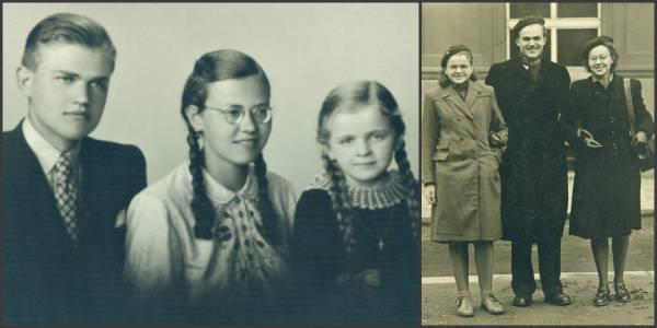 Maryša se svými sourozenci - starším bratrem Aloisem, mým dědečkem, a mladší sestrou Andělou.