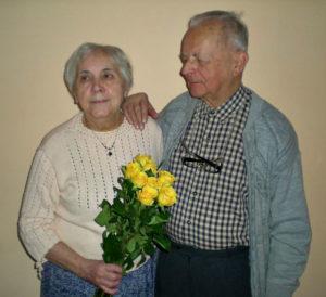 Rodiče Heleny na oslavě narozenin